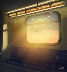 Inside a train by mclelun