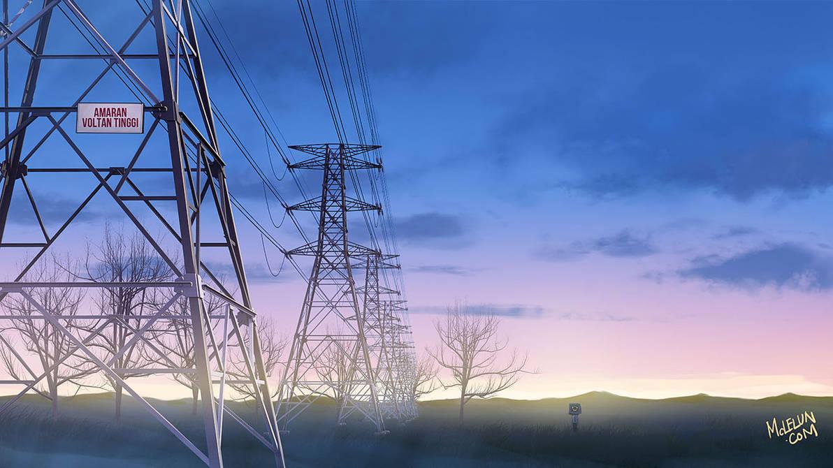 Blue Pylon by mclelun