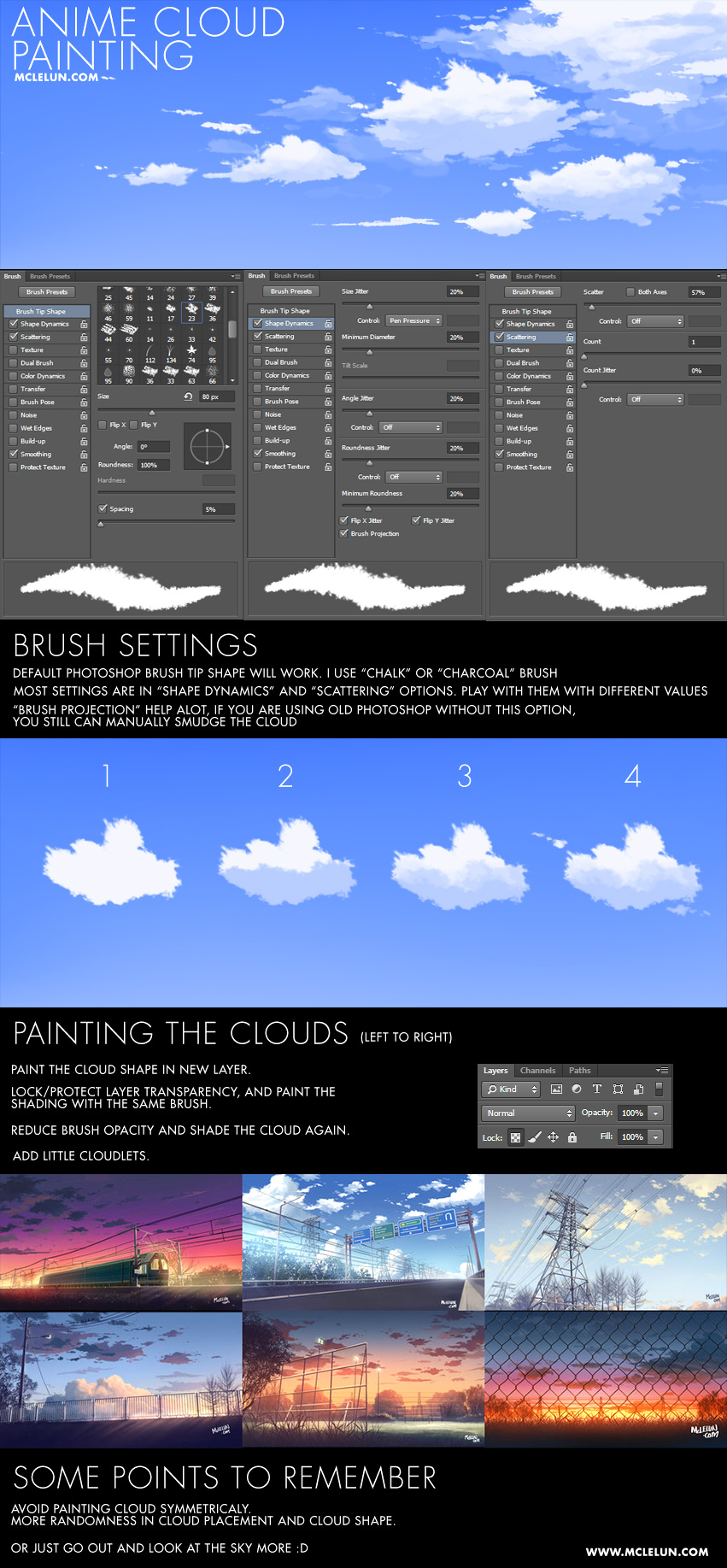 Anime Cloud Painting by mclelun