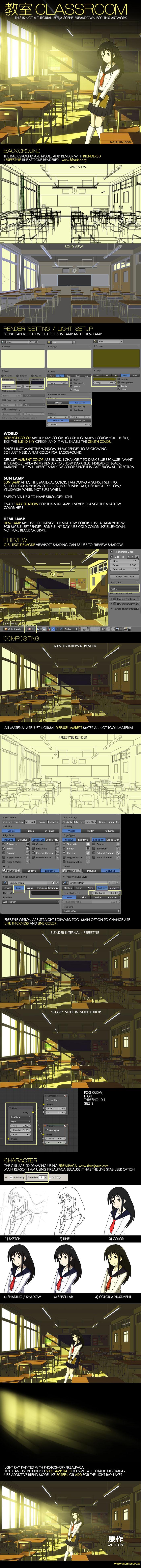 Blender3D Anime Style Background Art Render Settings