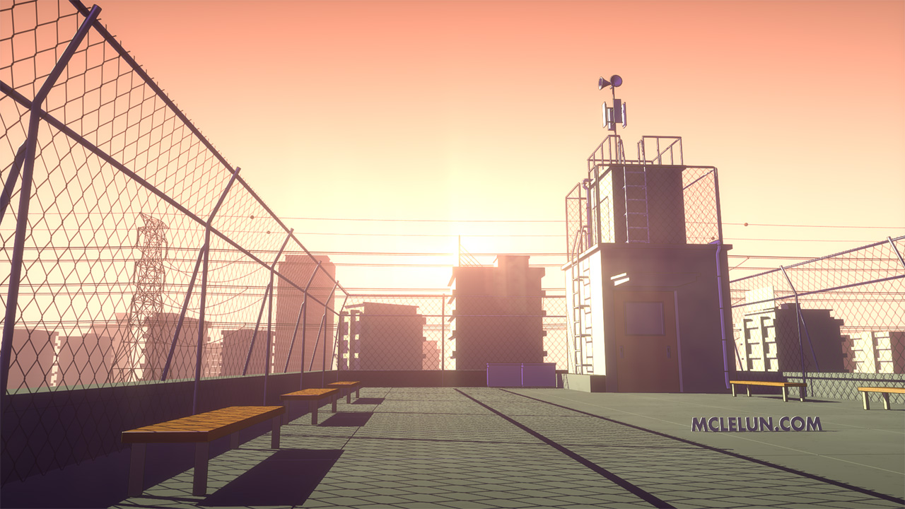 3d anime school rooftop by mclelun on deviantart for 3d roof wallpaper