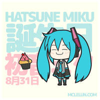 Hatsune Miku Birthday by mclelun