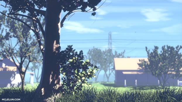 anime background 3d render