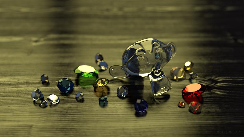 Blender3D Cycles Gems by mclelun