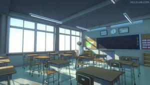 Blender3D Japanese Classroom Color 1