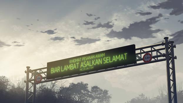 led sign at highway