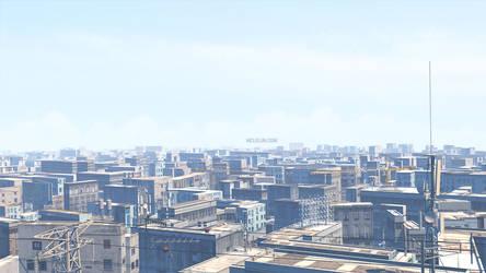 Blender3D Cityscape by mclelun