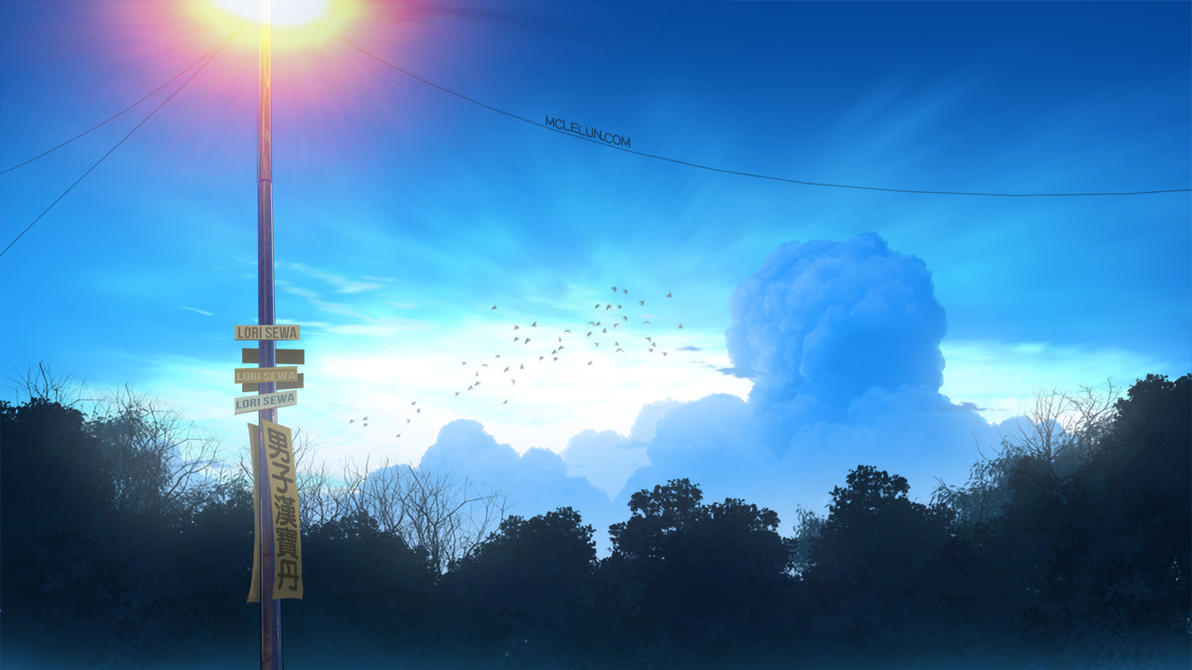 blue sunset cloud