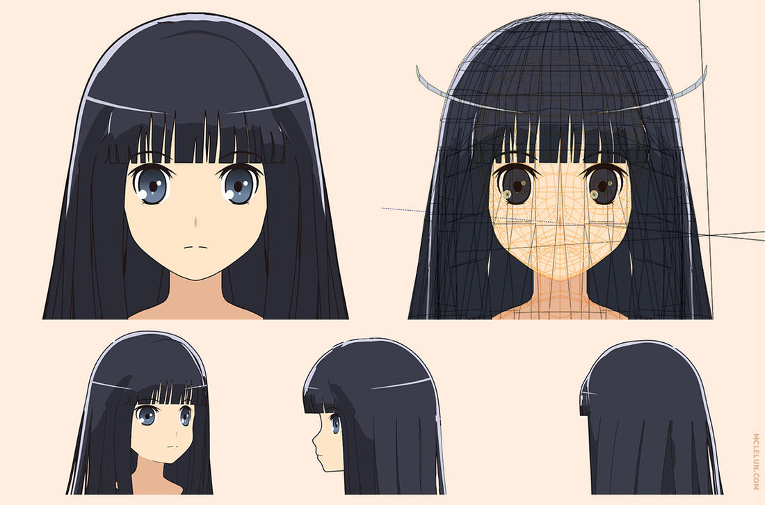 blender3d anime hair specular