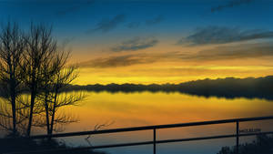 Evening Lake by mclelun
