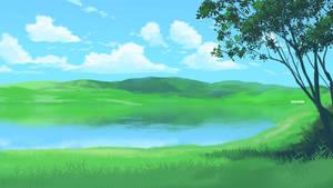 Sunny Lake Scene by mclelun
