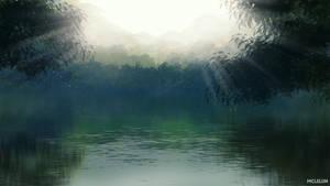 Hazy Lake by mclelun