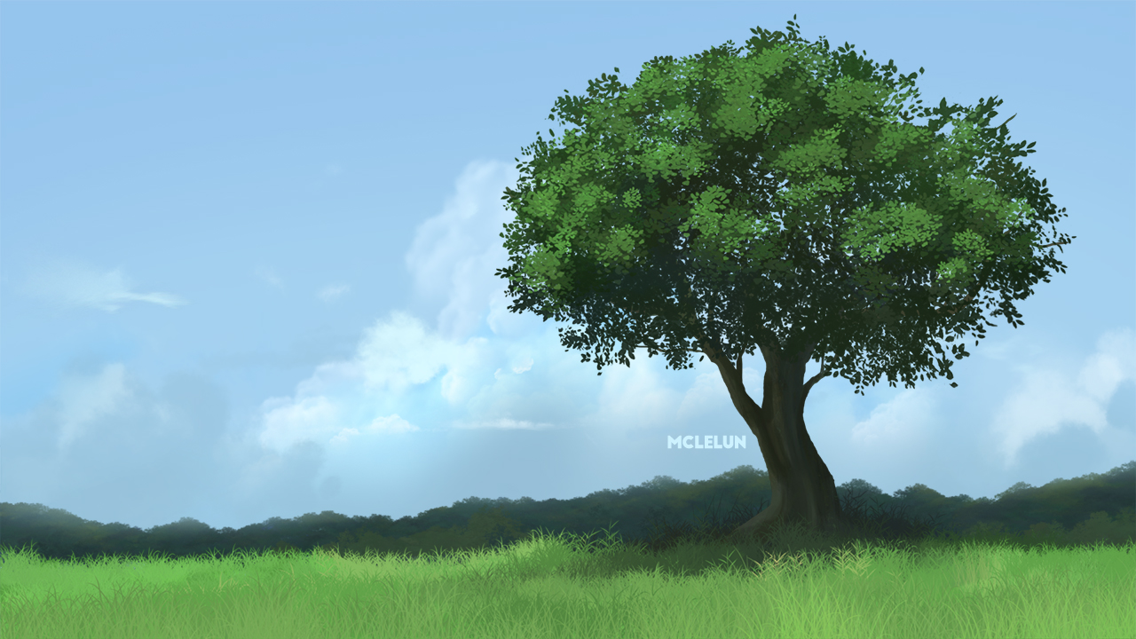 photoshop tree painting