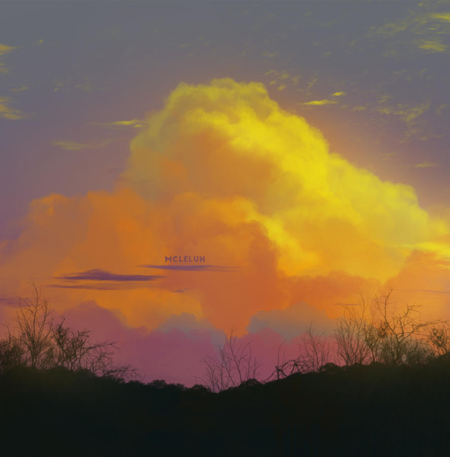 Warm Sunset Cloud by mclelun