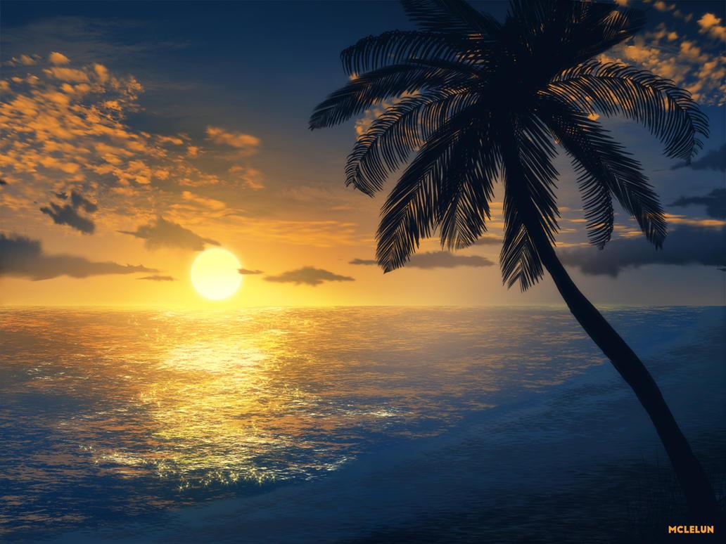 Evening Beach by mclelun