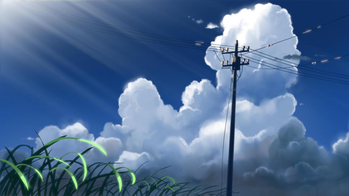 Painting Makoto Shinkai Style Artwork