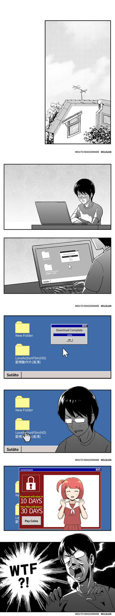 imouto ransomware part 1 by mclelun