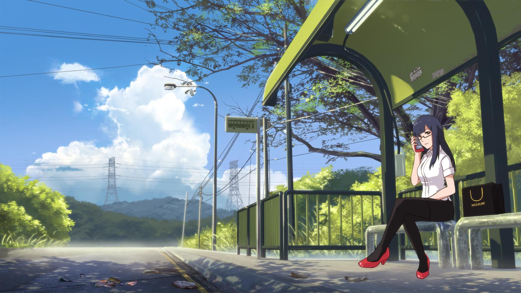 anime bus stop