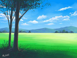 medibang paint landscape painting by mclelun