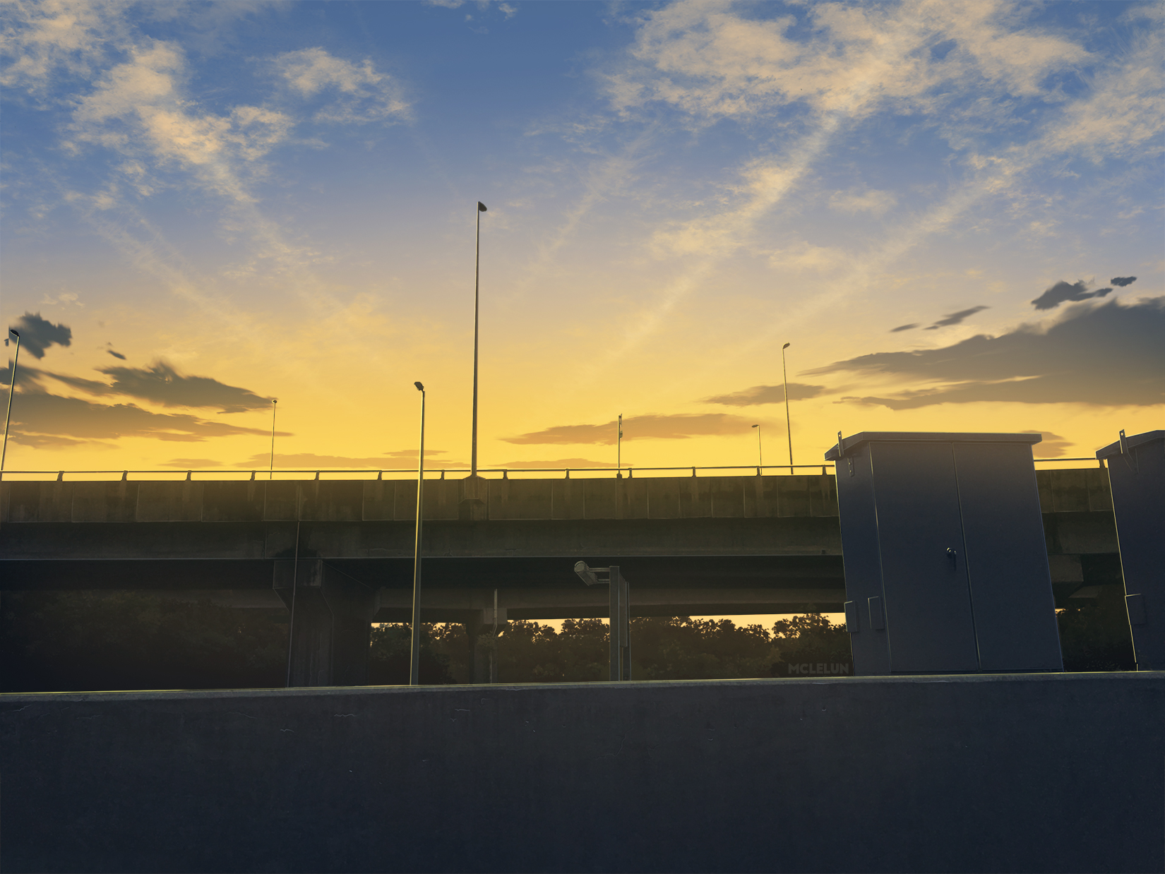 Evening Highway by mclelun