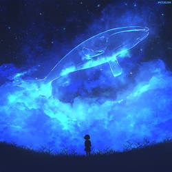 Galaxy Whale by mclelun