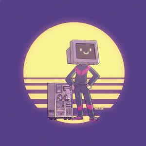 80s computer man