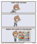 every step you make bring you closer to your dream
