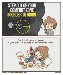 step out of your comfort zone by mclelun
