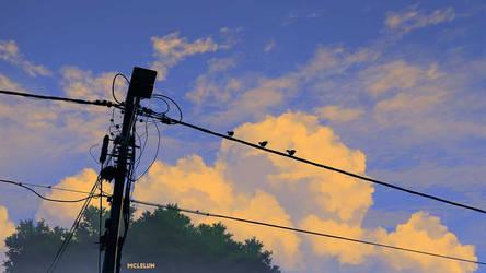 Street Light and Bird