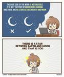 Star Between Moon and Earth