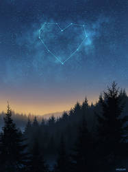 Starry Night Constellation by mclelun