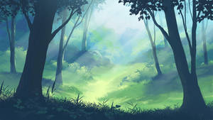 forest quick painting