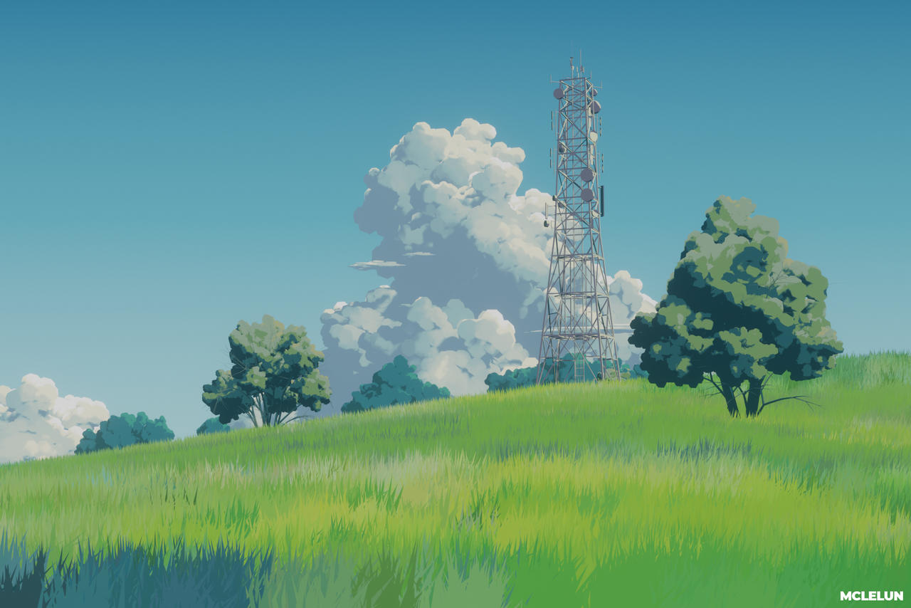 Studio Ghibli Style Background Art using Blender3D