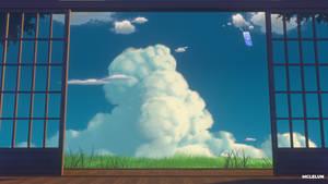 Blender3D Summer Cloud