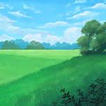 Quick landscape painting