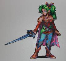 Terra FF6 - Perler + Hama by Xylophonia