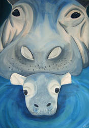 Hippo Pair by Bri-Creative