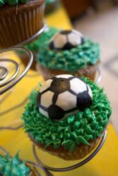 Soccer Cupcakes by Bri-Creative