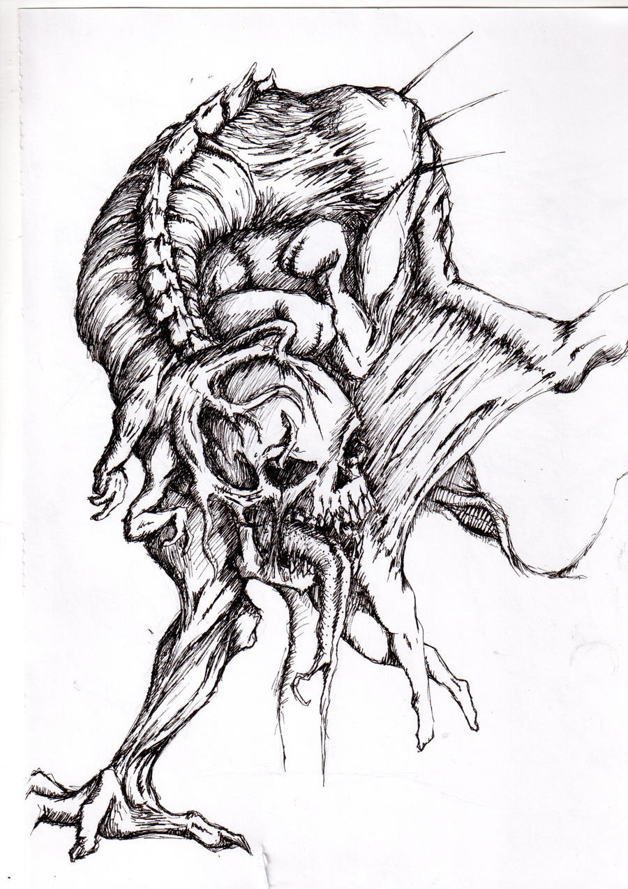 Dibujo De Craneo Humano 756290 in addition Dreamcatcher Drawing likewise Evil Symbols And Meanings moreover Evil Sketches as well Tribal Photo. on scary dark symbols