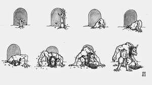 DQ: Ghoul Entrance Sequence