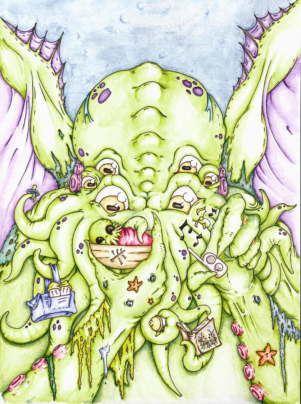 Cover Art Rock a Bye Cthulhu