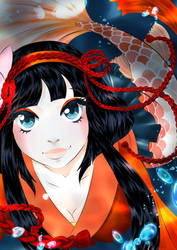 Onmyoji Fan Art Contest - Koi - before evo by SMK-Design