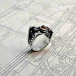 Silver Steampunk Ring - Spiralemus