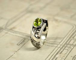 Silver Industrial Steampunk Ring - Certitudondum by GatoJewel-DerKater