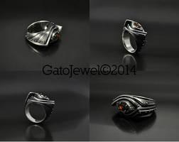 Silver industrial ring Amarendum by GatoJewel-DerKater