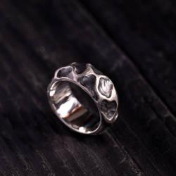 Rustic silver ring Vagabundus