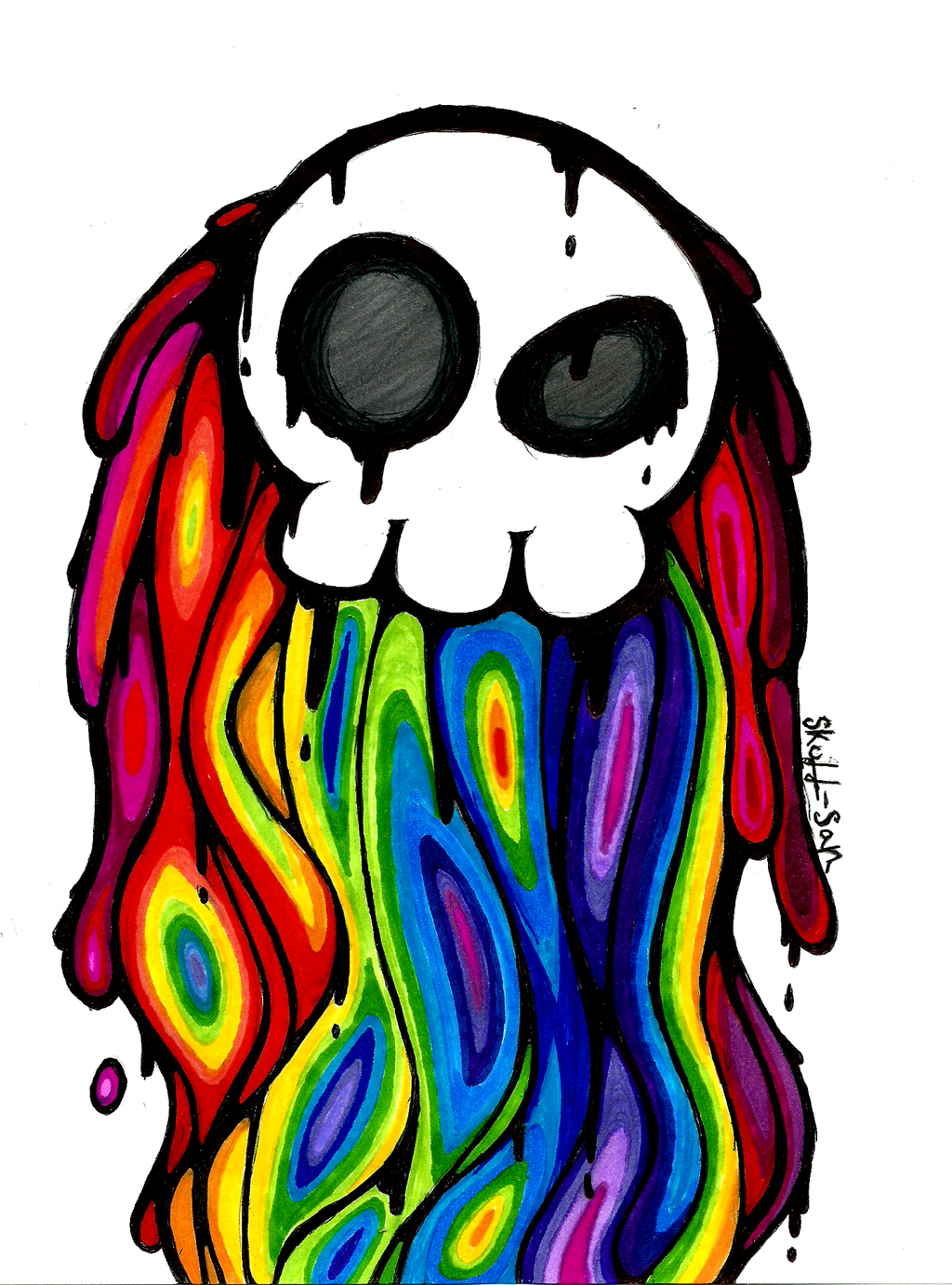 A Skull and the Rainbow by Skull-san