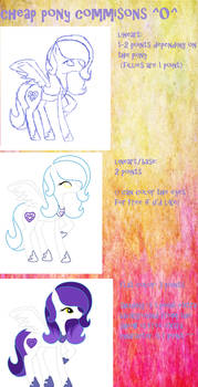 CHEAP PONY COMMISIONS