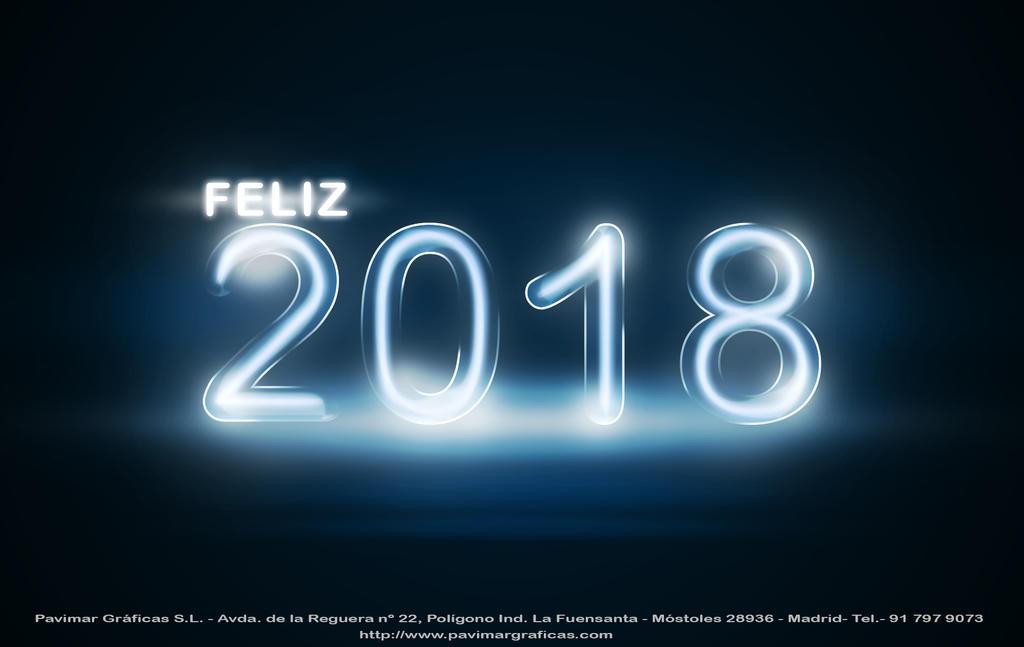 Feliz 2018 Pavimar Graficas by SusanaCLLL
