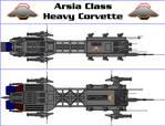 Arsia Class Heavy Corvette - MGSC Arsia